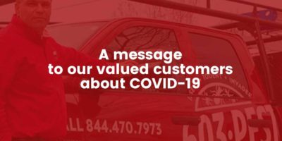 603 Pest message to our valued customers about COVID-19